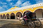 Convento De San Antonio De Padua (couvent de San Antonio De Padua), le monastère à Izamal, la ville jaune, l'état du Yucatan, au Mexique, en Amérique du Nord