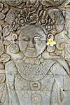Stone carving, Temple of Pura Dalem Jagaraga, North coast, Bali, Indonesia, Southeast Asia, Asia