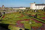 Chateau de Villandry and garden, UNESCO World Heritage Site, Loire Valley, Indre et Loire, France, Europe
