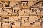 Geometric stone carving, Zapoteca culture, Mitla, Oaxaca, Mexico, North America