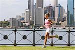 Jeune femme Running