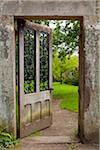 Doorway, Walled Garden, Wallington Hall, Northumberland, North East England, England