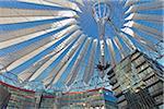Interior of Sony Center, Potsdamer Platz, Berlin, Germany