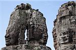 Visages de pierres, Temple du Bayon, Angkor Thom, Siem Reap, Cambodge