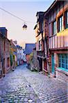 Dinan à Sunrise, côtes-d'Armor, Bretagne, France