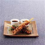 Brochette de côtes de rechange de poulet et brochettes de semences sesme et américaine