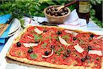 Tarte salée tomate et olive