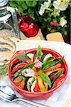 Kalte Gemüse-Tian mit Knoblauch und Lorbeer