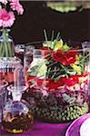 Salade de légumes frais huit à la pancetta et œufs de caille