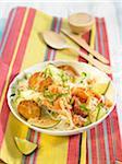 Salade de riz vermicellis et Tempehs légumes thaï