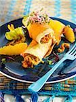 Zucchini and orange Enchilada
