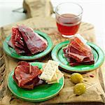 Spanish ham for aperitif
