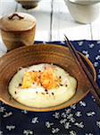 Tofu japonais sur purée de Daikon