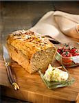 Rice,buckwheat,black sesame,walnut and honey bread loaf