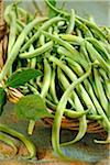 Panier de haricots verts