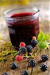 Glas von Blackberry jam