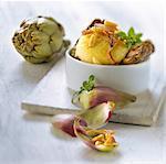 Artichokes with Banon and pinenuts