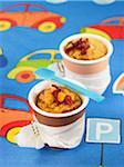 Individual apricot puddings