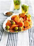 Carotte et salade d'olives verte