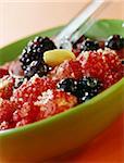 Fruits en purée et amandes