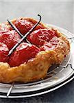 Caramelized tomato Tatin tart with vanilla