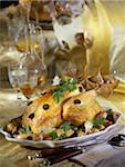 Roast turkey with truffles and garlic