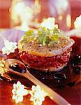 Foie gras et groseille mille-feuille