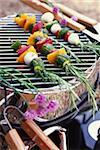Vegetable rosemary skewers