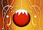 Ornement de Noël sur fond fête