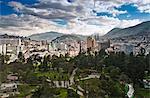 Vue surélevée de Quito, Équateur