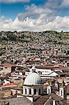 Vue sur les toits de Quito, Équateur