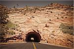 Tunnel near East Entrance, Zion National Park, Utah, USA