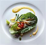 Vegetables in a lettuce leaf