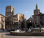 Plaza de la Virgen and the Cathedral, Valencia.
