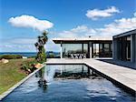 Seating area with view to sea, Flinders House, John Bornas, Melbourne, Victoria, Australia. Architects: John Bornas of Workroom