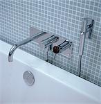 Chrome bath tap fitting