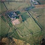 Birdoswald Roman Fort. Aerial view .