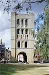 Bury St Edmunds abbaye. Vue extérieure de la tour de Norman.