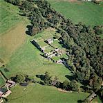 Abbaye de Haugmond. Vue aérienne.
