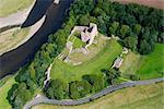Norham Castle. Luftaufnahme, mindestens zehn mal belagert.