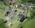 Abbaye de Rievaulx. Vue aérienne.