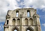 Abbaye de roche. Vue détaillée de la paroi du transept.