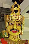 Indonesia, Bali, Ulun Danu Bratan temple, Galunghan festival, statue