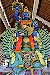 Indonesia, Bali, Ulun Danu Bratan temple, Galunghan festival, statue of a garuda