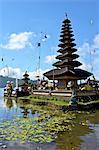 Indonesia, Bali, Ulun Danu Bratan temple, Bratan lake and pagoda