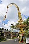 Indonesia, Bali, Ubud, Galunghan festival, penjor
