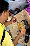Indonésie, Bali, Ubud, artisanat