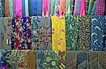 Indonesia, Bali, Ubud, stall of sarongs