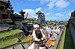 Indonesia, Bali, Besakih temple, procession