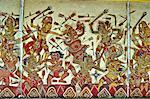 Indonesia, Bali, Kungkung, old king's palace, floating pavilion, fresco